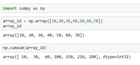 Cumulative Sum of Single Dimension Array