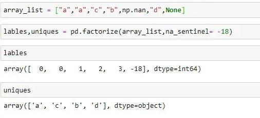 Customizing na_sentinel instead of default -1