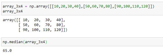 Median of all the elements present in the 2D array
