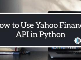 Yahoo Finance API Python Example