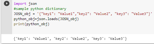 json to dict