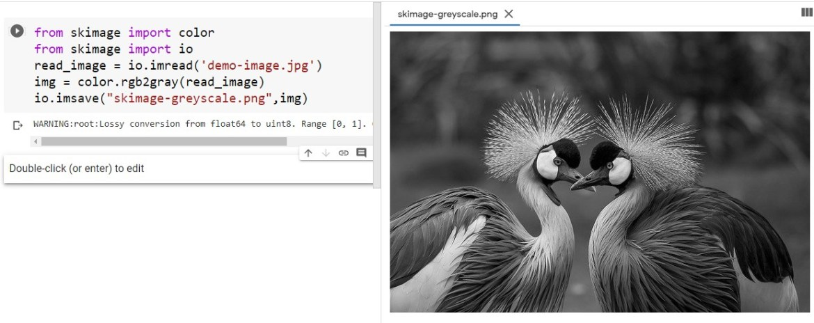 Color Image to Greyscale Image using scikit-image module