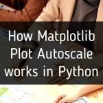 How Matplotlib Plot Autoscale works in Python