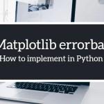 Matplotlib errorbar implement in python