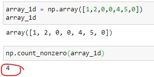 Number of Non-zero elements in 1D array