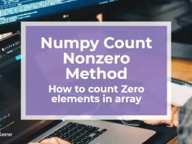 Numpy Count Nonzero Method