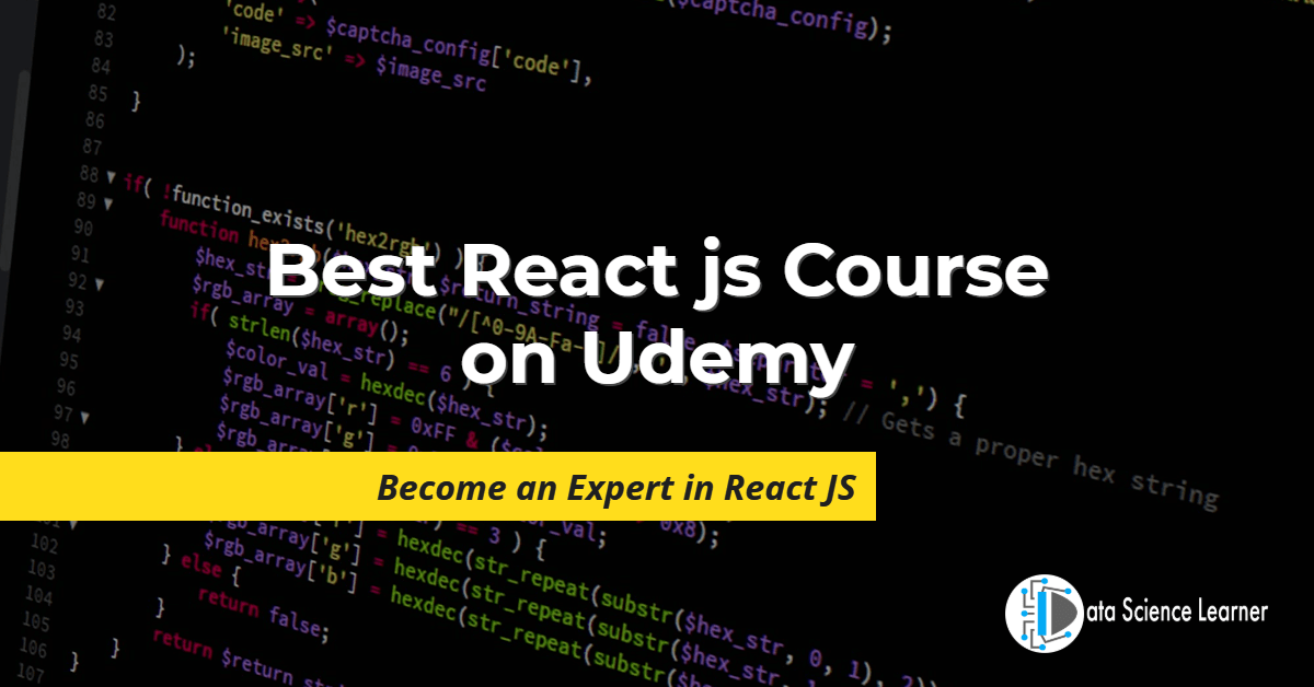 Best React js Course on Udemy