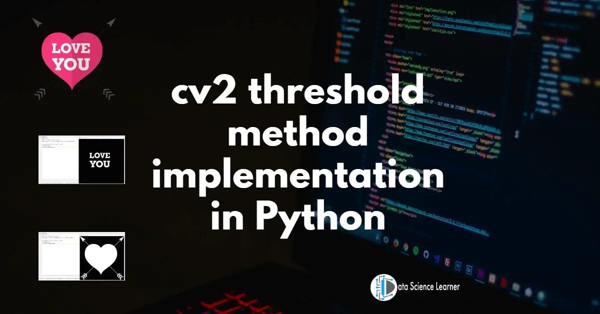 cv2 threshold method implementation in Python