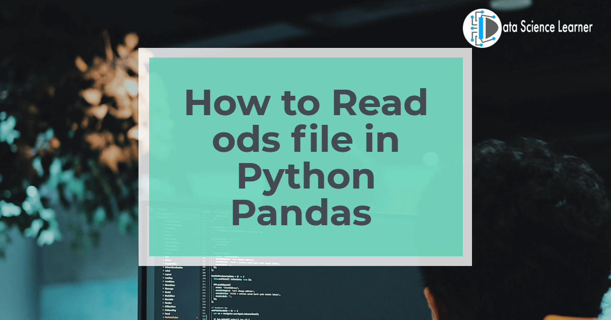 How to Read ods file in Python Pandas