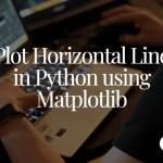 Matplotlib Horizontal Line in python