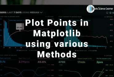 Plot Points in Matplotlib using various Methods
