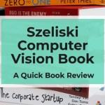 Szeliski Computer Vision Book