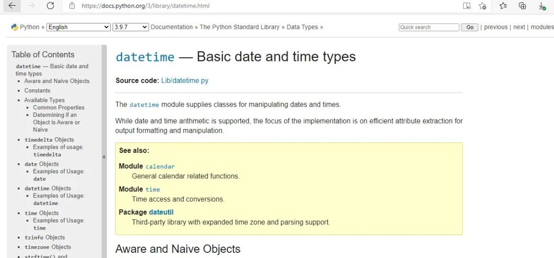 UTC to datetime