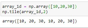 repeating array over columns for 1d array