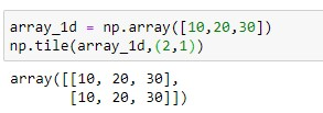 repeating array over rows for 1d array