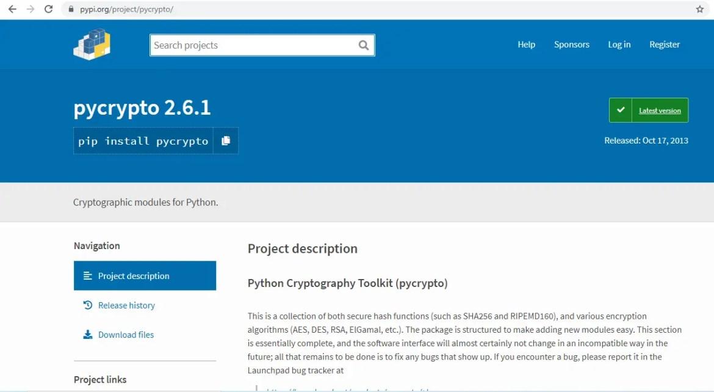 importerror no module named crypto cipher