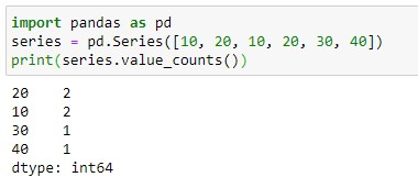 Finding unique counts in Series