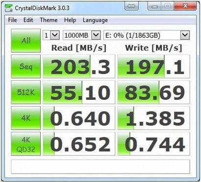 CristalMark-Seagate 2TB 1-1000 USB3.0
