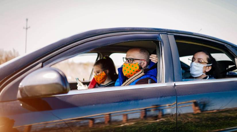 Mask-Wearing And Windows Open Will Reduce COVID Risk In Cars