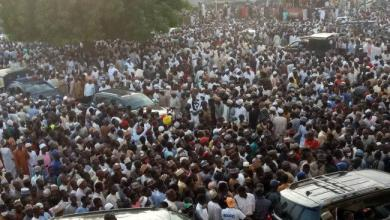 Photo of Mammoth crowd at Emir of Zazzau's funeral (photo)