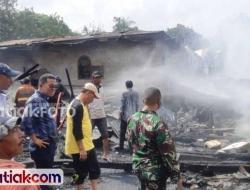 Tujuh Rumah Terbakar, 13 KK Ditaksir Rugi Rp 1 Miliar