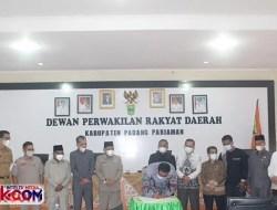 8 Fraksi di DPRD Padangpariaman Setujui KUA Perubahan