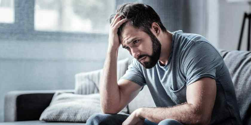 Photo of a sad man