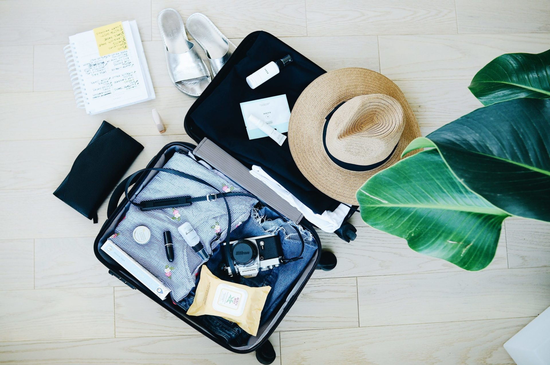 Packing for Vacation - Image of suitcase