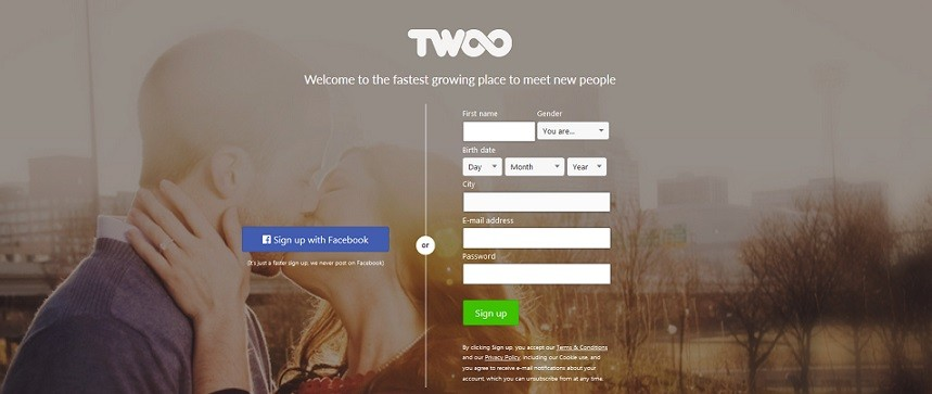 Dating site similar to twoo messages