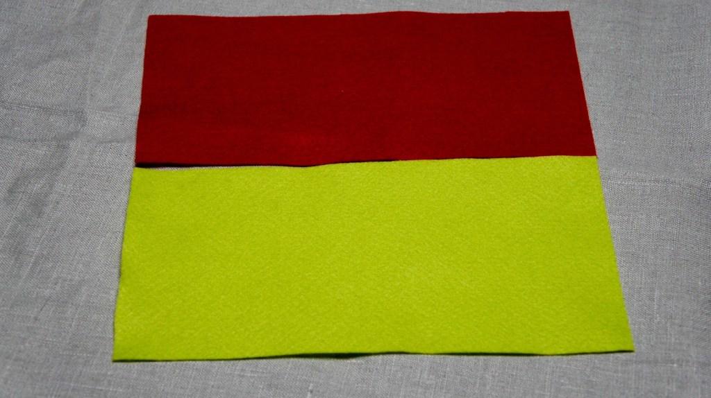 Roter und grüner Filz für Bilderbuch