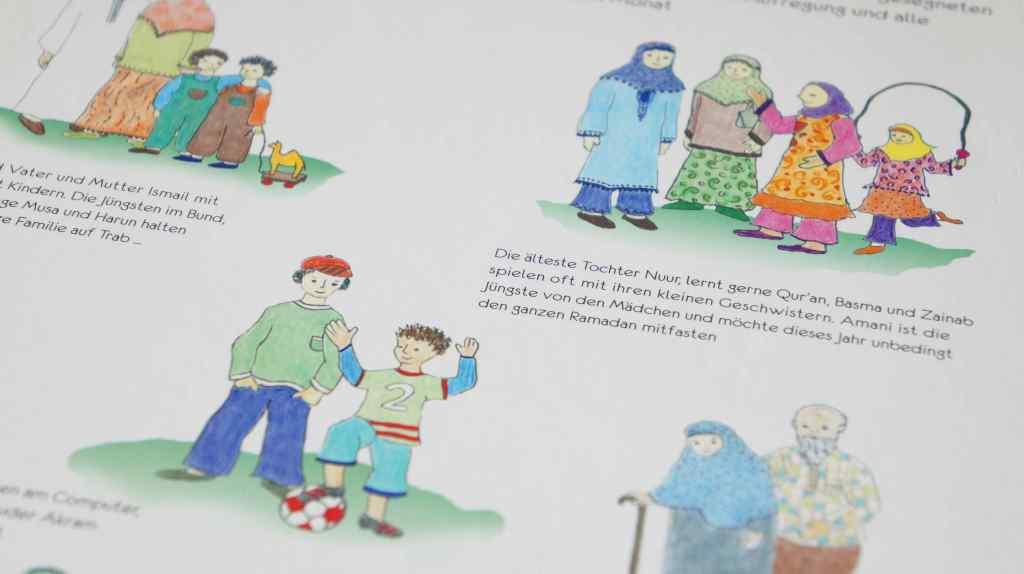 Kinderbücher zum Ramadan Beispielseite Personen