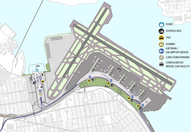 Laguardia Subway Map.Port Laguardia Airport Design Competition Master Plan Portfolio