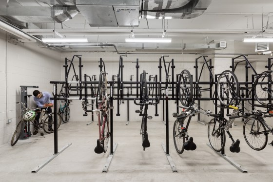 Dattner Architects, Caesura, Bike Storage Room, Brooklyn, New York