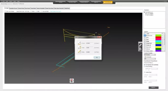 Measure Distances and Areas in 3D Viewer