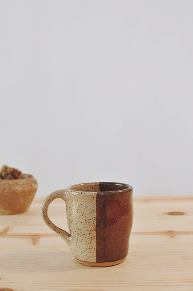 ceramic mug, ceramics, mug, half and half mug, fine life co