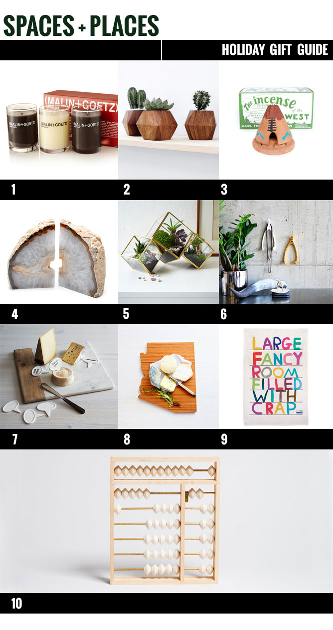 gift guide, holiday gift guide, space and places gift guide, home design, interior design, affordable home goods, pinterest home design