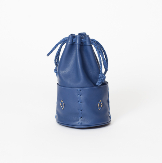 Bucket Bag, Blue bucket bag, Beatrice Valenzuela