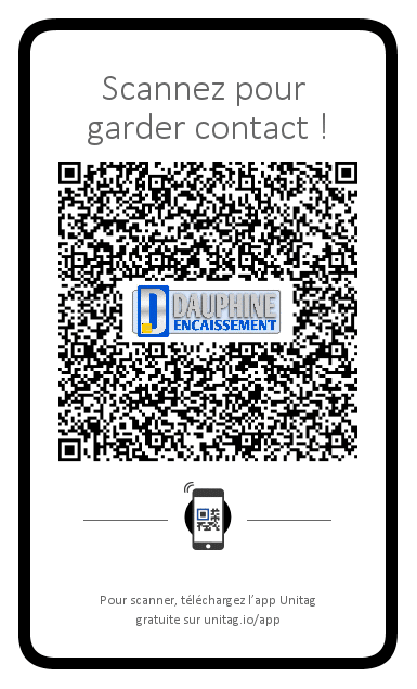 QR code pour télécharger notre fiche contact