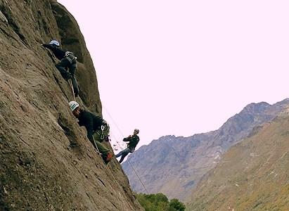 Escalada en roca con instructor DAV: Río Blanco