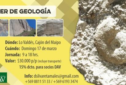 Taller de geología 17 de Marzo