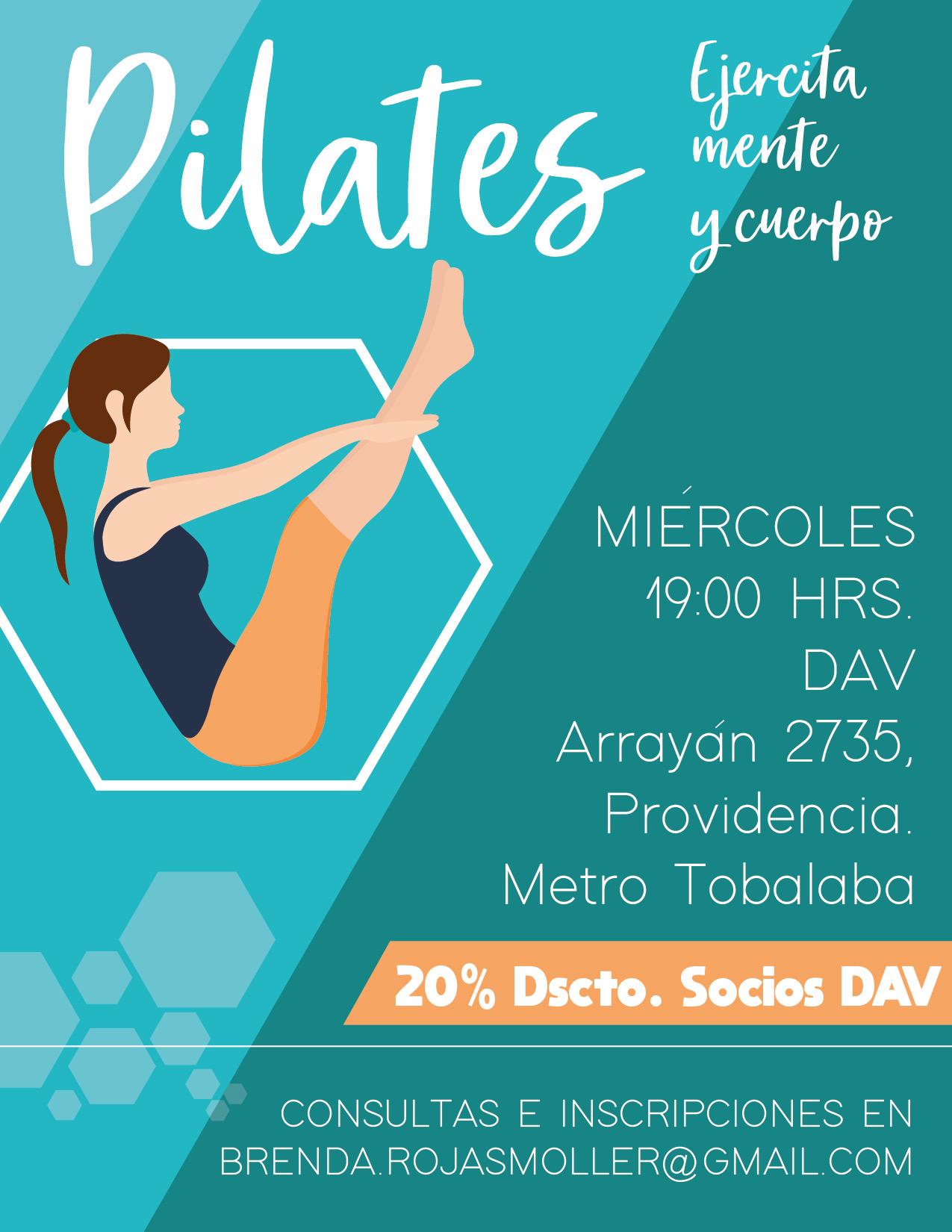 Clases de Pilates , todos los miércoles a las 19:00