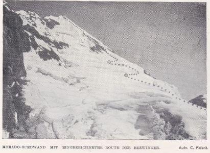 Primer Ascenso del Morado por la Ruta Directa de la Pared Sur – Traducción del relato de 1943