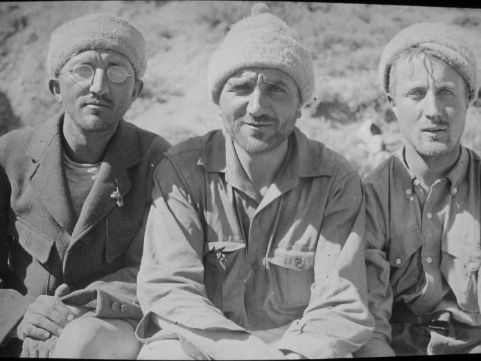 Sattler, Krückel y Maass tras el primer ascenso al Marmolejo.