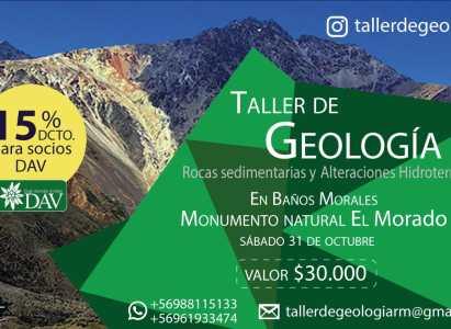 Taller de Geologia sábado 31 de Octubre, Baños Morales