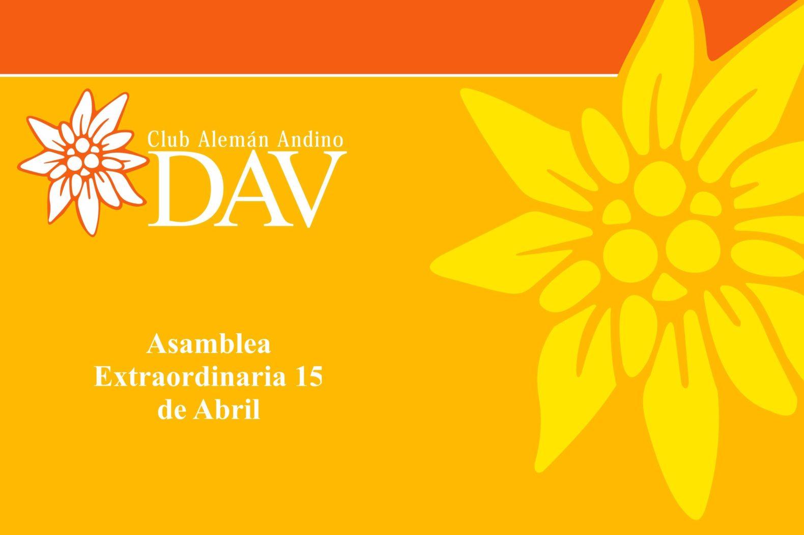 Asamblea Extraordinaria 15 de Abril de 2021