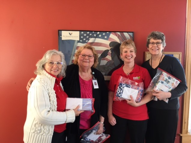 Unit 38 donated 30 pillowcases and thank you cards to hospice.