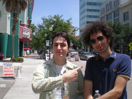 Filmmaker Azazel Jacobs and I, outside the Sarasota Film Festival