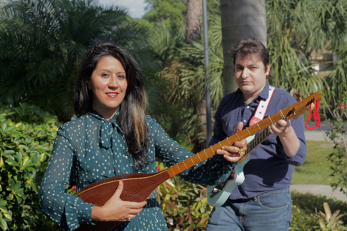 Leila M. & Tired of Triangles, a musical duo based in Southwest Florida