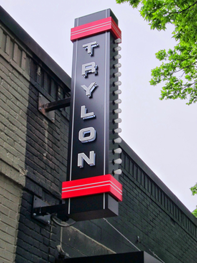 Sign for The Trylon microcinema in Minneapolis, MN