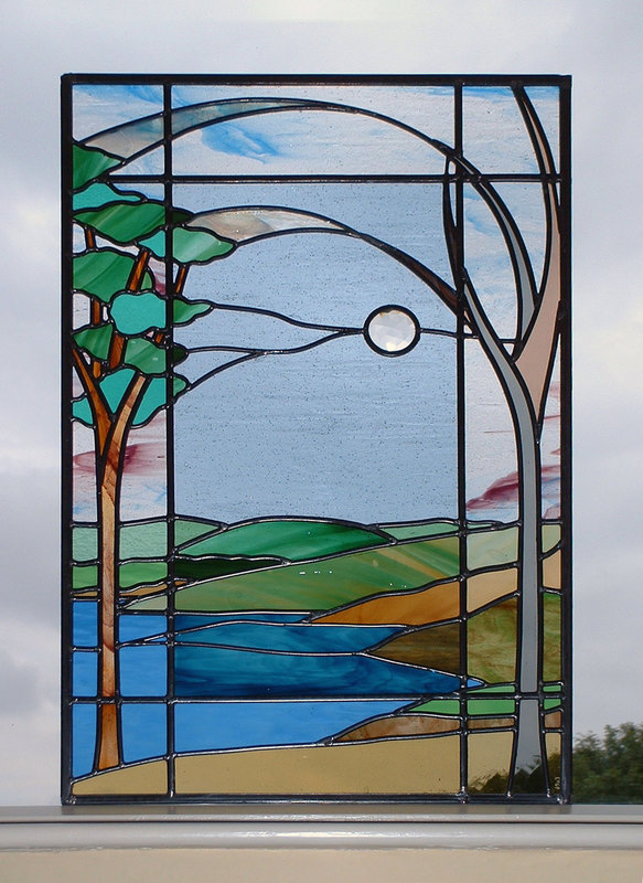 Carsington Water window panel